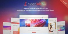 Download and review of CleanLab - Responsive WordPress Theme + Page builder, one of the best Themeforest Creatives themes