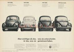 VW - 1967 - Aber wichtiger als das, was sie unterscheidet ist das, was sie gemeinsam haben. - [8642]-1