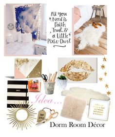 """""""Dorm room decor"""" by allygreagor ❤ liked on Polyvore featuring interior, interiors, interior design, home, home decor, interior decorating, Bloomingville, Livingly, UGG Australia and ESSEY"""