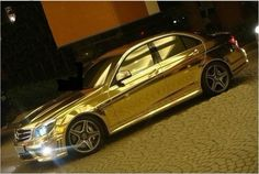 Chrome Gold Carbon Fiber Applied and looks goldy gold