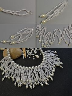 Seed beads tassel bib necklace, wanna it