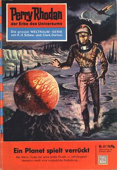 """Perry Rhodan - No. 37: A World Gone Mad - by Clark Darlton: Cover artwork by """"Johnny"""" Bruck: Was US issue #29."""
