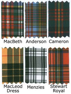 Decorate with tartan plaids. Find ribbon and tablecloth.