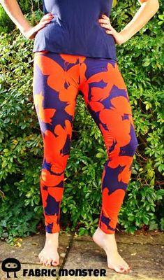 Women's Leggings sewing pattern pdf leggings by SeaminglySmitten