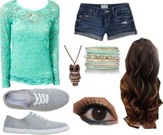 """""""summer day"""" by samikpaw ❤ liked on Polyvore"""
