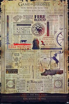 Game Of Thrones Infographic Maxi Poster   UK Store   Oneposter.com