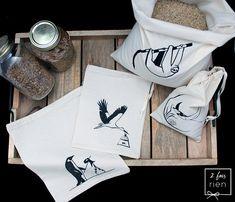 4 Sacs à vrac sacs réutilisables en coton imprimés à la Cufflinks, Accessories, Etsy, Fashion, Bags, Printed Cotton, Unique Jewelry, Moda, Fashion Styles