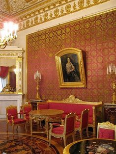 Red Parlor in the Yusupov Palace.