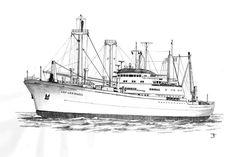 Cap San Marco 1961, Hamburg Süd Reederei (HSDG), Alemania