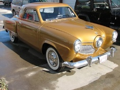 Golden 1951 Studebaker Starlight Coupe Bullet Nose