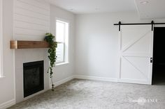 The easiest DIY wood mantel ever! I'm not a pro, but this mantel looks so good! Come join me for a fun tutorial and inexpensive project! Diy Fireplace Mantel, Build A Fireplace, Brick Fireplace Makeover, Wood Mantels, Fireplace Remodel, Fireplace Ideas, Mantle Ideas, Modern Farmhouse Living Room Decor, Modern Farmhouse Interiors