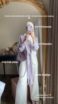 Modern Hijab Fashion, Hijab Fashion Inspiration, Muslim Fashion, Korean Fashion, Casual Hijab Outfit, Casual Outfits, Hijab Style Tutorial, Mode Jeans, Mode Hijab
