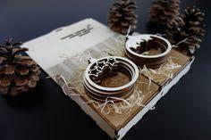 Vintage drevené ozdoby na Vianoce, 1 sada-12 kusov