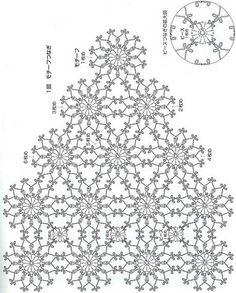 Shawl Crochet Patterns Part 6 – Beautiful Crochet Patterns and Knitting Patterns – BuzzTMZ Crochet Scarf Diagram, Crochet Doily Patterns, Crochet Chart, Crochet Cardigan, Filet Crochet, Irish Crochet, Crochet Doilies, Crochet Flowers, Crochet Lace