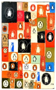 Penguin book logo collage print by Michelle Thompson, A4 limited edition 25€ (unframed). Buy one at Galeria Kavel online.