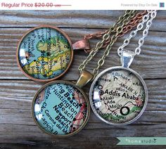 Custom Map Location Glass by HomeStudio. Got a Mormon missionary? Why not get a map of the mission on a necklace? Great gift for missionary mom, missionary grandma, sister missionary, missionary girlfriend. LDS Mormon missionary map jewelry
