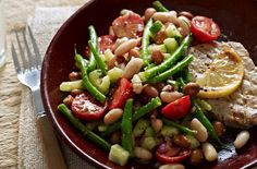 Mixed bean salad with mustard dressing - Lunch under 200 calories Lunch Recipes, Diet Recipes, Cooking Recipes, Healthy Recipes, Healthy Breakfasts, Delicious Recipes, Healthy Snacks, Vegetarian Recipes, Healthy Options