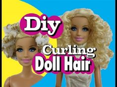 How to Curl Barbie Hair. It can be a fun project to curl your Barbie doll's hair if it's straight. You'll need to have some patience, as the process requires leaving the hair overnight after applying pipe cleaners or twist ties. Barbie Hair, Barbie Clothes, Barbie Dolls, Girl Dolls, Diy Ooak Doll, Ooak Dolls, Doll Hair Repair, Doll Face Makeup, Doll Tutorial