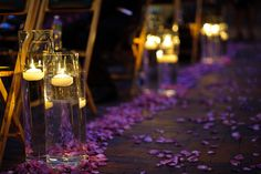 Most up-to-date Photographs Floating Candles aisle Ideas Hovering candle lights offers your element of love, model and type whenever you have used them inten Purple Wedding, Trendy Wedding, Fall Wedding, Our Wedding, Wedding Flowers, Wedding Ideas, Wedding Inspiration, Wedding Things, Wedding Dresses