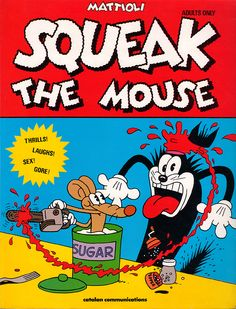 """Squeak The Mouse.  OMG, these are the direct ancestors of """"Itchy & Scratchy""""…"""