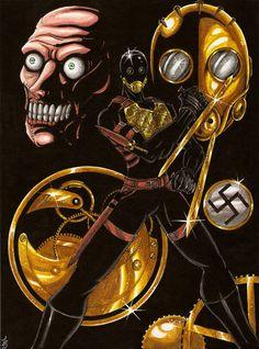 Kroenen by BlackCoatl on DeviantArt Man In The Castle, Hellboy Kroenen, Hellboy Movie, Cute Black Wallpaper, Hero Movie, Demonology, Military Humor, Creepy Art, Dope Art