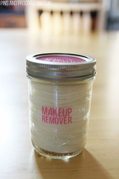 This homemade natural makeup remover is so simple- it only has one all natural ingredient! It takes 5 minutes to make and is great at removing makeup.