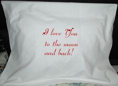 I love You to the moon and back tyynyliina, Leonora