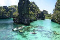 El Nido - Kayaking at the Big Lagoon - Philipines