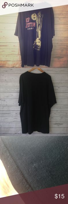 Led Zeppelin men's shirt big & tall 3XLT In used condition has a couple small spots. See photos it is a size 3XLT big and tall has some fading unknown  Shirts Tees - Short Sleeve