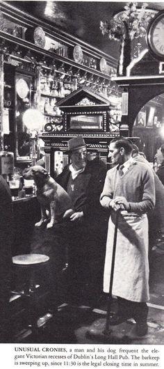 The Long Hall Pub in Dublin. life_1964_pic_FARELL_GREHAN_long_hall