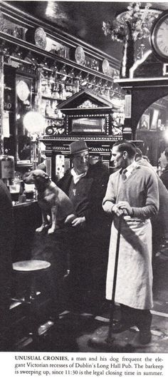 The Long Hall Pub in Dublin. life_1964_pic_FARELL_GREHAN_long_hall