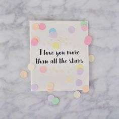 The Gift Label: I love you more than all the stars 🌟 Confetti Cards, Gift Labels, Love You More Than, Glamour, Social Media, Photo And Video, The Originals, My Love, Frame