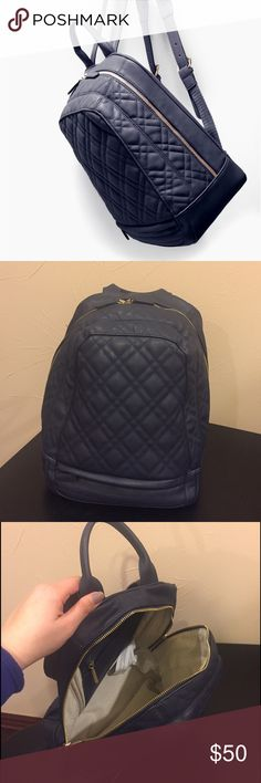 Zara Navy Blue Quilted Rucksack Zara Navy Blue Quilted Rucksack - Sold Out Everywhere!!  New...Only used once or twice, in great condition! Feel free to make an Offer and/or ask any questions foradditionaldetails. Zara Bags Backpacks