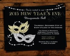 new years eve masquerade party invitation by littlerosestudio new years eve masquerade party masquerade party