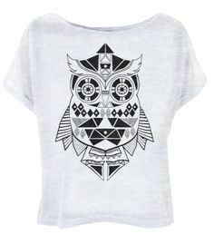 owl black and white