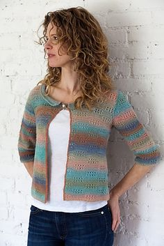 Ravelry: Fiji Cardi pattern by Dora Ohrenstein in Crystal Palace Yarns Mini Mochi