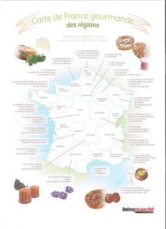 Une carte à distribuer aux élèves juste avant la pause déjeuner ^^ Plus sérieusement, ce document complète à merveille un cours sur la gastronomie française, et peut en plus faire réviser les régions de France, voir servir de transition pour une autre page de civilisation sur la géographie française générale! Oui je sais, je suis sur tous les fronts! :-)