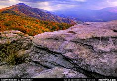 photo images of sandstone, west virginia | Tuscarora Sandstone picture with North Fork Mountain, and North Fork ...