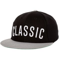8c2504acf5558 Quintin The Classic Snapback Hat in Black ( 30) ❤ liked on Polyvore  featuring men s fashion