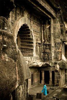 Ajanta Caves in the Aurangabad district of Maharashtra, India