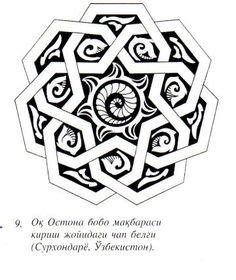 "Could be interesting…bold thick lines (black?) with multi-color background ""Samanid Mandala Design on wall. Mandala Design, Mandala Pattern, Pattern Drawing, Pattern Art, Islamic Art Pattern, Beautiful Rangoli Designs, Oriental Pattern, Celtic Art, Line Patterns"