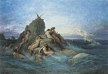 Oceánide. Ninfas del agua salada, hijas de Océano y Tetis, hermanas de los Oceánidas, dioes de los ríos.Algunas de ellas: Europa, Clímene, Electra, Eurínome, Asia