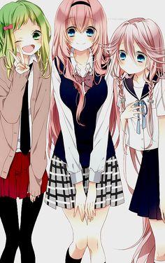 Schoolgirl Luka, Gumi, and IA