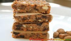 Carrot and Raisin Bar http://www.healthysnacksrecipes.net/carrot-and-raisin-bar/ Easy healthy snack recipes
