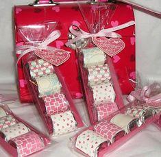 más y más manualidades: Lindas ideas para obsequiar dulces en San Valentín