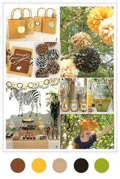 Fun palette!!!... Safari Birthday Party, #Children, #Birthday, #Party Inspiration