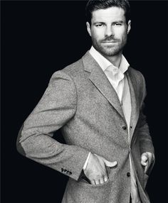 """Xabi Alonso of Real Madrid for the Emidio Tucci's """"Black Collection"""" line"""