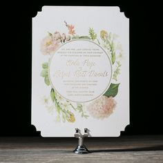 Josephine digitally printed + foil stamped wedding invitations by Ellie Snow for Bella Figura