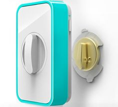 Lockitron - automated wireless control for the front door deadbolt. So cool.