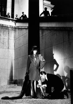 """Helmut Newton. YSL, 1981. As Newton once said: """"Any photographer who say's he's not a voyeur is either stupid or a liar."""""""